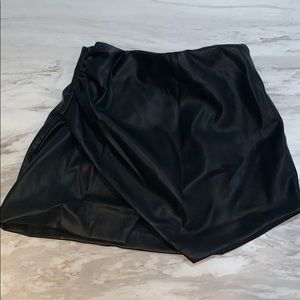 Zara Trafaluc Collection Leather Skirt